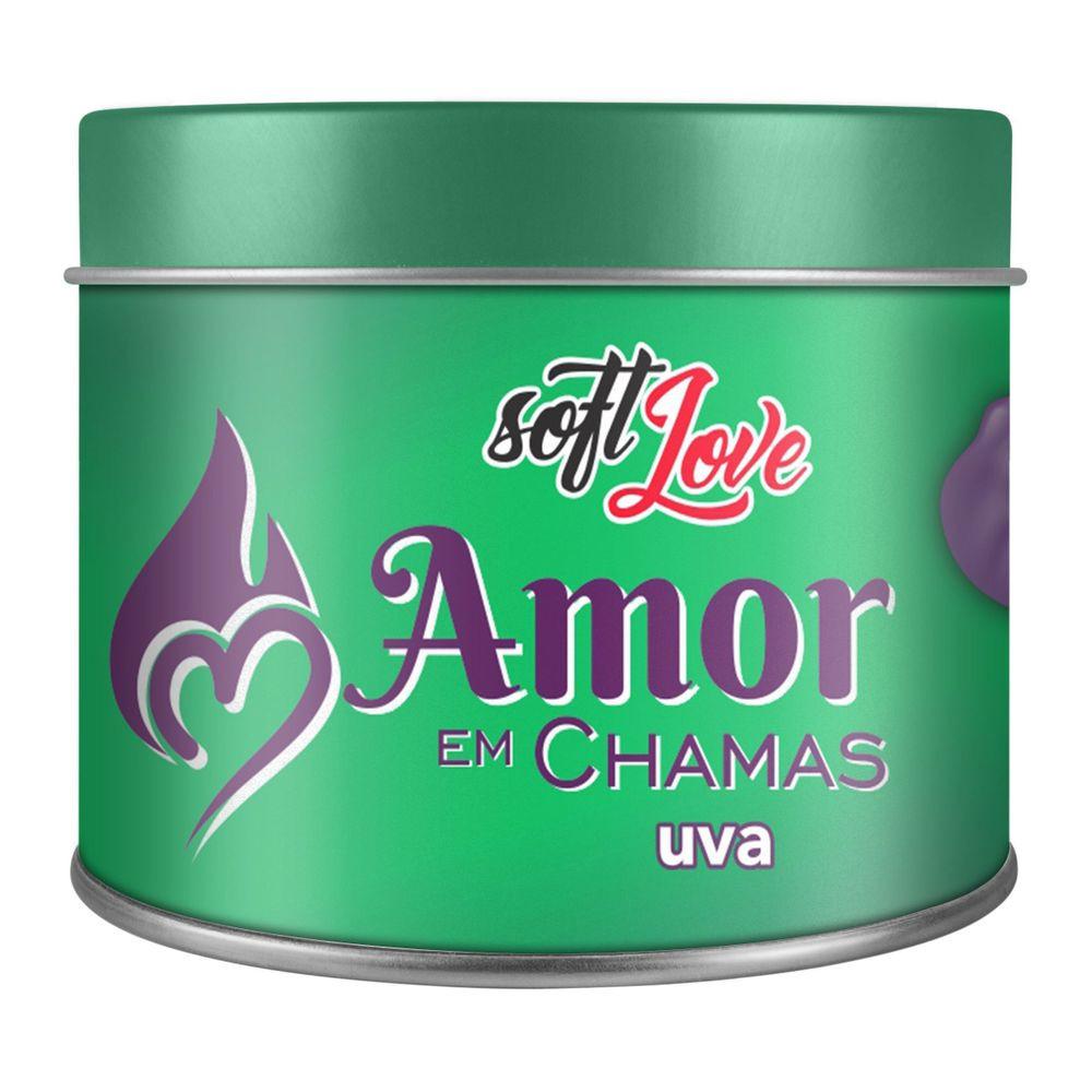 Amor em Chamas Vela Hot Beijável Uva 50gr
