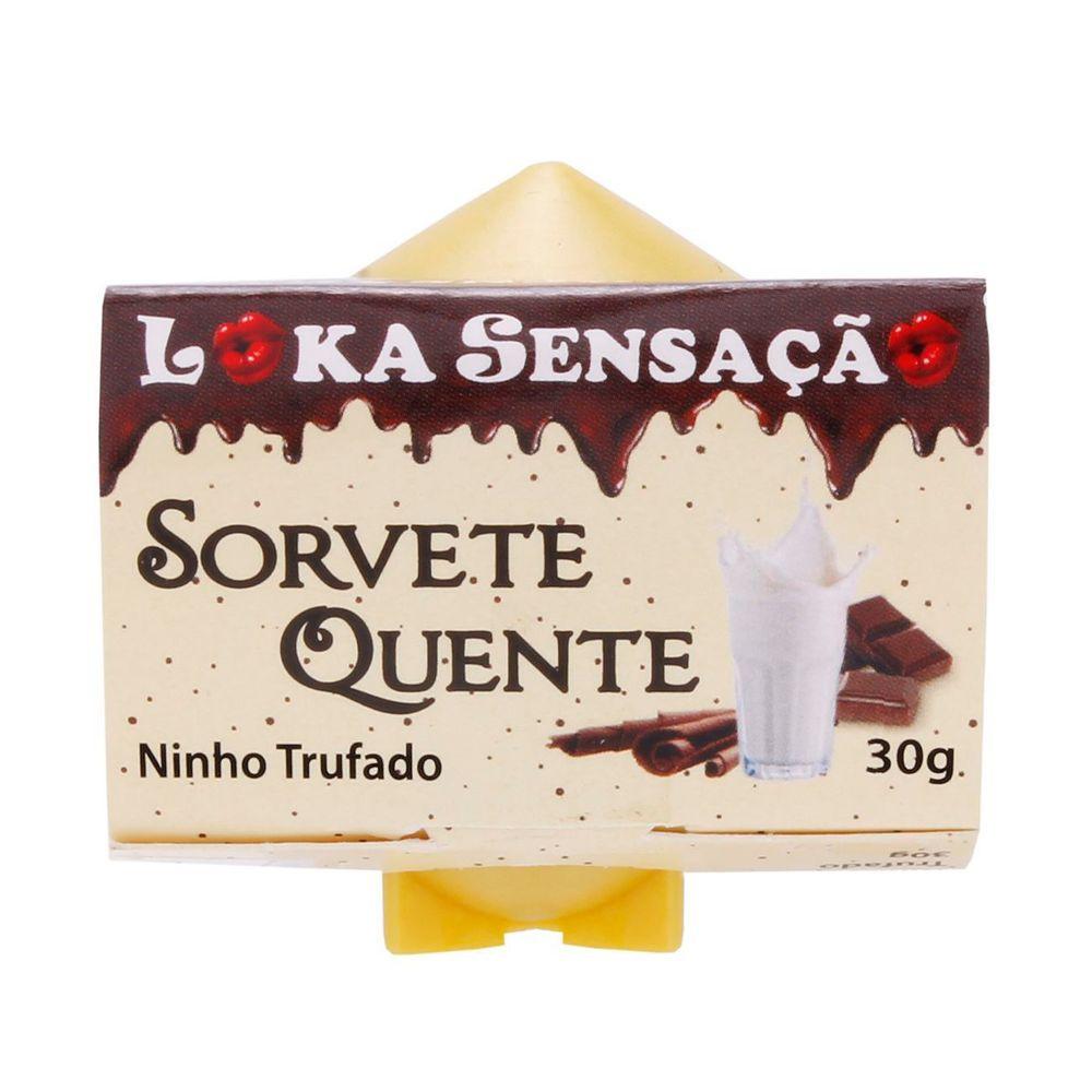 Vela Comestível Sorvete Quente Gourmet Ninho Trufado